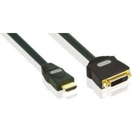 PROFIGOLD HDMI KABEL Adapter HDMI MALE - DVI-D FEMale 0,15M - BANDRIDGE