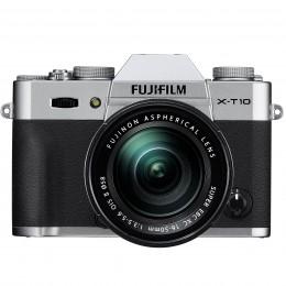 Digitalni fotoaparat Fujifilm FinePix X-T10 kit 16-50mm - srebrn