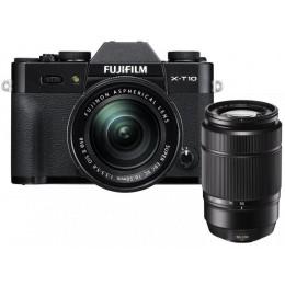 Digitalni fotoaparat Fujifilm FinePix X-T10 kit 16-50mm in 50-230mm - črn