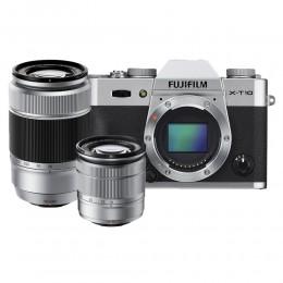 Digitalni fotoaparat Fujifilm FinePix X-T10 kit 16-50mm in 50-230mm - srebrn