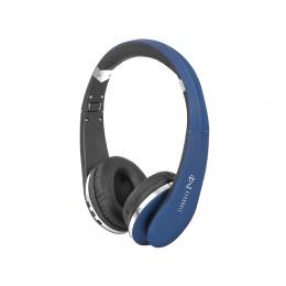 TREVI Brezžične BLUETOOTH slušalke DJ 1200 BT + mikrofon, AUX-in, zložljive, modro/črne