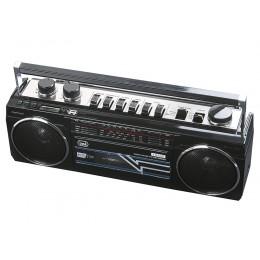 TREVI RR 501 BT Radijski kasetofon s tehnologijo Bluetooth srebrn
