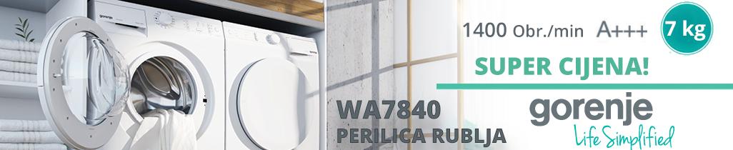 Gorenje WA7840 perilica rublja sa 1400 obrata i A+++.